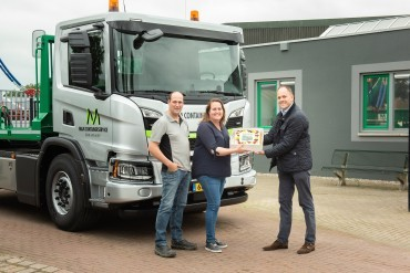Scania LNG portaalauto voor M&M Containerservice