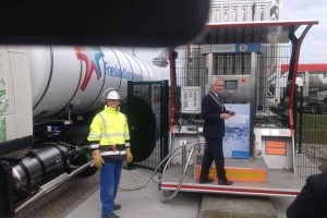 LNG tankstation in Friesland