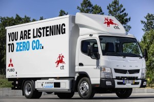 Fuso Canter E-Cell test geslaagd