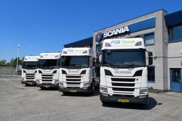Vier Scania's op LNG voor AB Transport